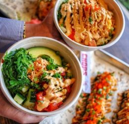 sushi rolls, bowls in orlando